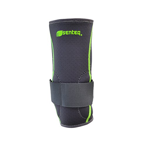 SENTEQ Tennis Golf Elbow Brace Sleeve - Medical Grade & FDA Approved. TPR GEL for Support & Comfort, Decrease Swelling, Inflammation Reduces Pain. Fits Either the Left or Right Forearm (SQ2 N007 S) by SENTEQ (Image #2)