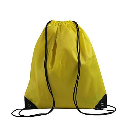 (LIHI Bag 10 Pack Ripstop Drawstring Backpack,Party Favors Treat Bags,Yellow)