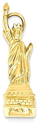 ICE CARATS 14k Yellow Gold Statue Of Liberty Pendant Charm Necklace Travel Transportation Fine Jewelry Gift Set For Women Heart by ICE CARATS (Image #1)