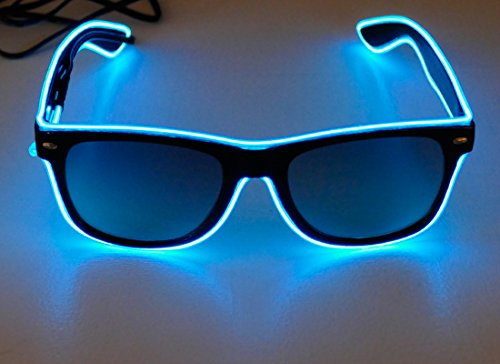 Neon Blue Light Up Glasses – 3 Different Modes