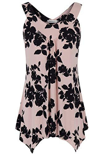 Helloacc Western Style Tanks and Blouses,Red Plus Size Tank Workout Long V Neck Corset Ruched Tank Top Petal Blouse Off Shoulder Strapless Floral Tunic Tanks Shirt Pretty Cute Pink Black 2X