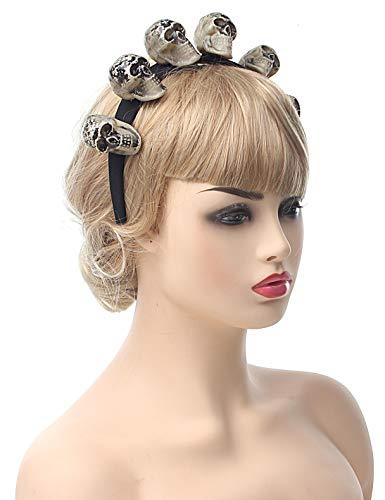(Myjoyday Halloween Skull Headband Costume Cosplay Hair Accessories Party Headwear Supplies for Girls and Women)