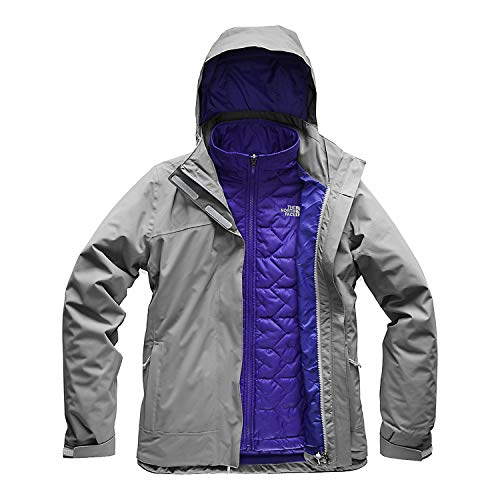 (The North Face Women's Carto Triclimate Jacket - Mid Grey & Mid Grey - L)