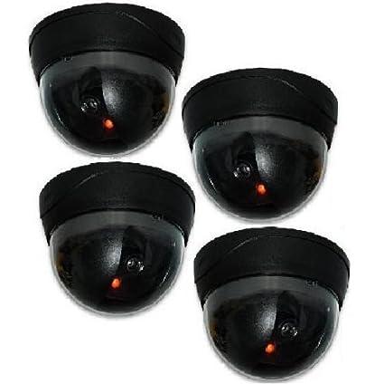 Stolz Kamera Dummy - Cámara de vigilancia (luz led, sensor de movimiento, 4