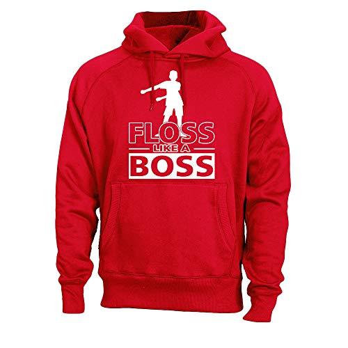 Kids Floss Like a Boss Flossin Dance Youth Adult Hoodie Sweatshirt (Red, Youth XS) ()