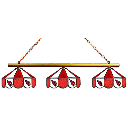 Table Tiffany Cardinals Lamp (Imperial Officially Licensed NFL Merchandise: Tiffany-Style Stained Glass Billiard/Pool Table 3 Shade Light, Arizona Cardinals)