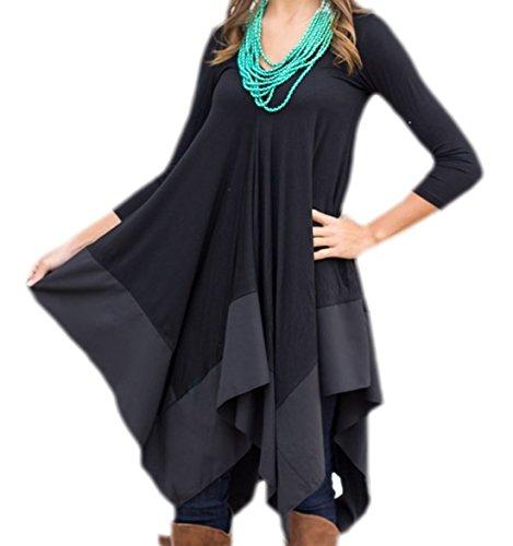 erdbeerloft - Vestido - trapecio - Opaco - para mujer negro