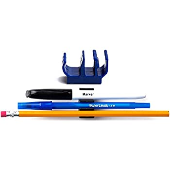 Amazon Com 50 Pk Blue Self Adhesive Pencil Pen And