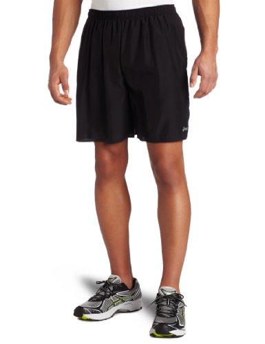 Asics Men's Core Pocketed Short, Black, (Asics Core Running Short)