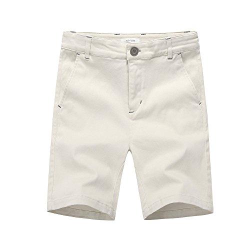 Toddler Boys Cargo Shorts Khaki (KID1234 Boys' Cargo Shorts Cotton Adjustable Waist Casual With Four Pockets (5, Khaki))