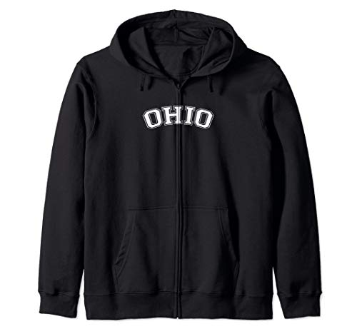 Vintage Retro Sports Ohio Zip Hoodie (St Zip Clairsville Ohio)
