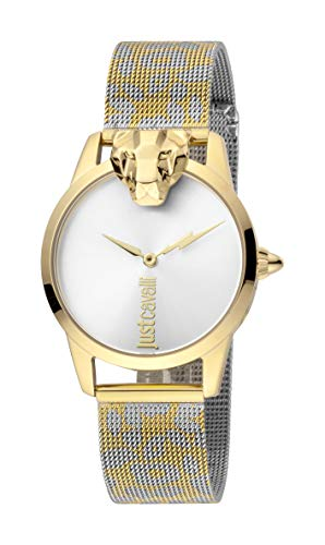 Just Cavalli JC1L057M0285 316L Stainless Steel Mineral Crystal Deployment Buckle Watch