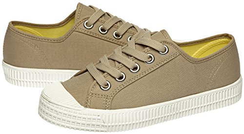 Paperplanes - 1350 Casual Low Top Schuhe Damen Canvas Sneaker 1350-Beige