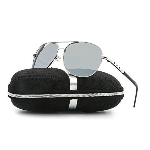 Sunglasses for Men Women Aviator Polarized Unisex Metal Frame UV Driving - Best Dark Sunglasses