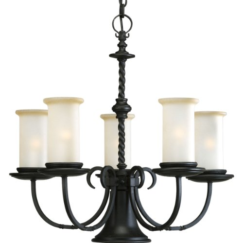 587-80 5-Light Santiago Chandelier, Forged Black ()