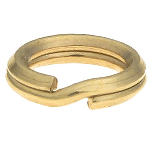 14k Gold Filled Split Rings - 10 pcs 14k Gold Filled 5mm Round Split Jump Ring 24 GA Gauge / 0.5mm Wire Connector Charm Carrier