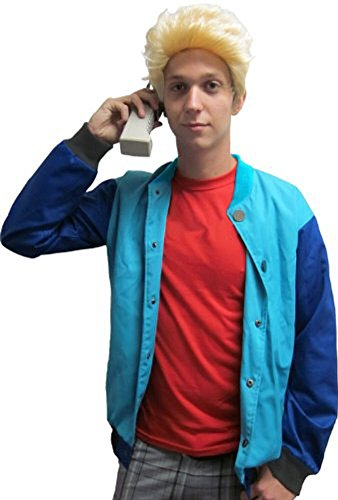 90's Saved By the Stud Costume Bayside Jacket & Wig - Zack Morris (Std (Fits up to 42