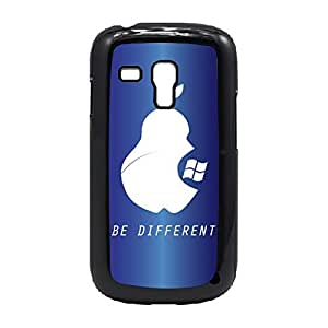 Case Fun Case Fun Dark Blue Be Different Snap-on Hard Back Case Cover for Samsung GalaxyS3 Mini (I8190)