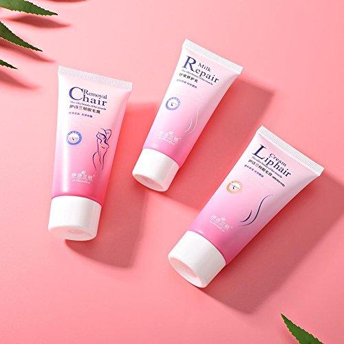 Crema depilatoria suave y potente indolora sin potencia Crecimiento inhibidor del crecimiento: Amazon.es: Belleza