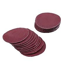 """LANDGOO 100 Pack 2"""" Sanding Discs Hook and Loop Sandpaper Pads 80/100/180/240/600/800/1000/1200/2000/3000 Assorted Grits"""