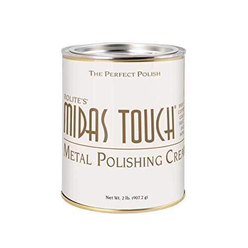 Midas Touch Metal Polishing Cream – 2lb, Cleaner & Polishing Rouge for Sterling Silver, Gold, Brass & Other Metals, 1pack, by Rolite -