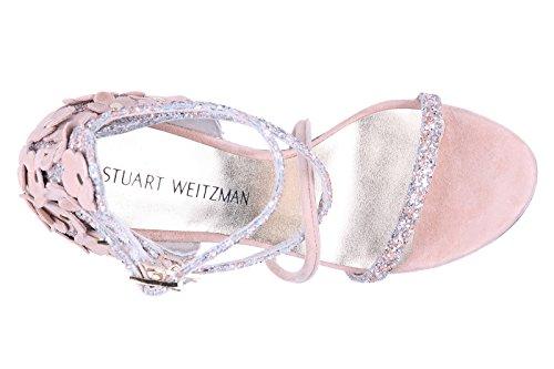 de sandalias beige Weitzman Stuart nuevo piel mujer tacón en EZxFq