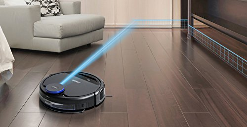 ECOVACS OZMO Smart Robotic Carpet, Bare Floors, Hair, with OZMO Floor Sensing Technology, Compatible with Alexa