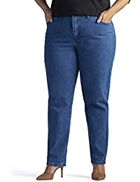 d3597fa0c1a Women s Plus Size Relaxed-fit Elastic-Waist Jean