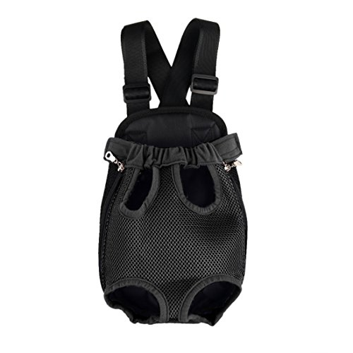 uxcell Portable Convenient Pet Legs Out Front Backpack Small Dog Cat Carrier Bag for Outdoor Travel Black S Review