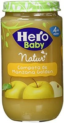 Hero Baby Natur Compota o Puré de Manzana Golden Postre ideal para Bebés a partir de 4 meses Pack de 6 x 235 g: Amazon.es: Alimentación y bebidas