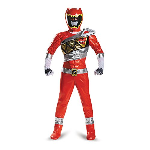 Disguise Red Ranger Dino Charge Prestige Costume, Small (Red Power Ranger Samurai Halloween Costume)