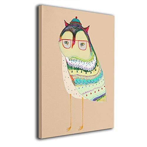 Little Monster Cute Owl Inner Framed Printed On Canvas Home Decor Comics Art for Child Bedroom Living -