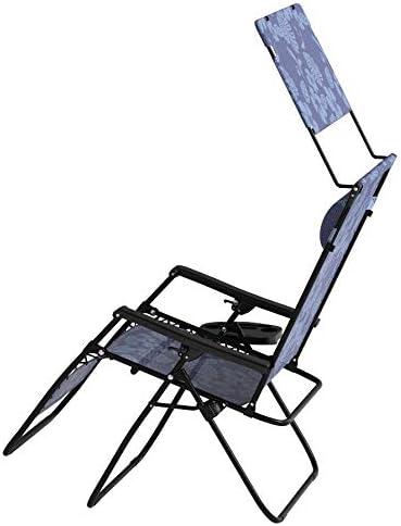 "Bliss Hammocks 33"" Width XXL Anti Gravity Recliner With Canopy - Blue Flowers"
