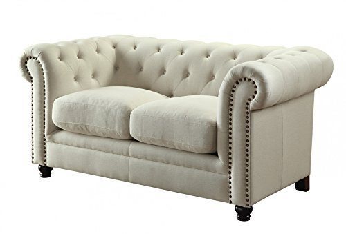 1PerfectChoice Roy Oatmeal Traditional Loveseat