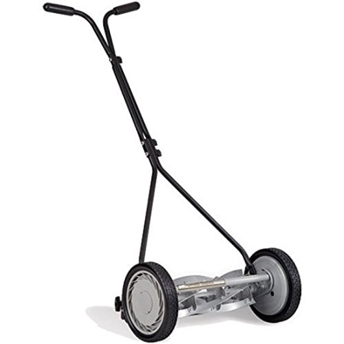 Unbreakable Steel Side Push Mower 16'', Black by Great States