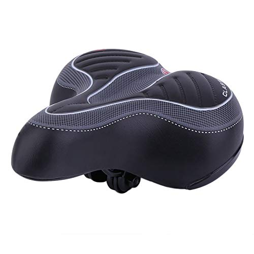 WEIWEITOE-ES Comfortable Wide Big Bum Bike Bicycle Gel Cruiser Extra Sporty Soft Pad Saddle Seat Suitable For Any Type of Bike