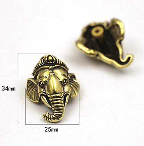 (Hangton Embossed Metal Pattern Purse Button Buckle for Wallet Bag Phone case Dog Collar Accessories,E(34x25mm),OneSize)