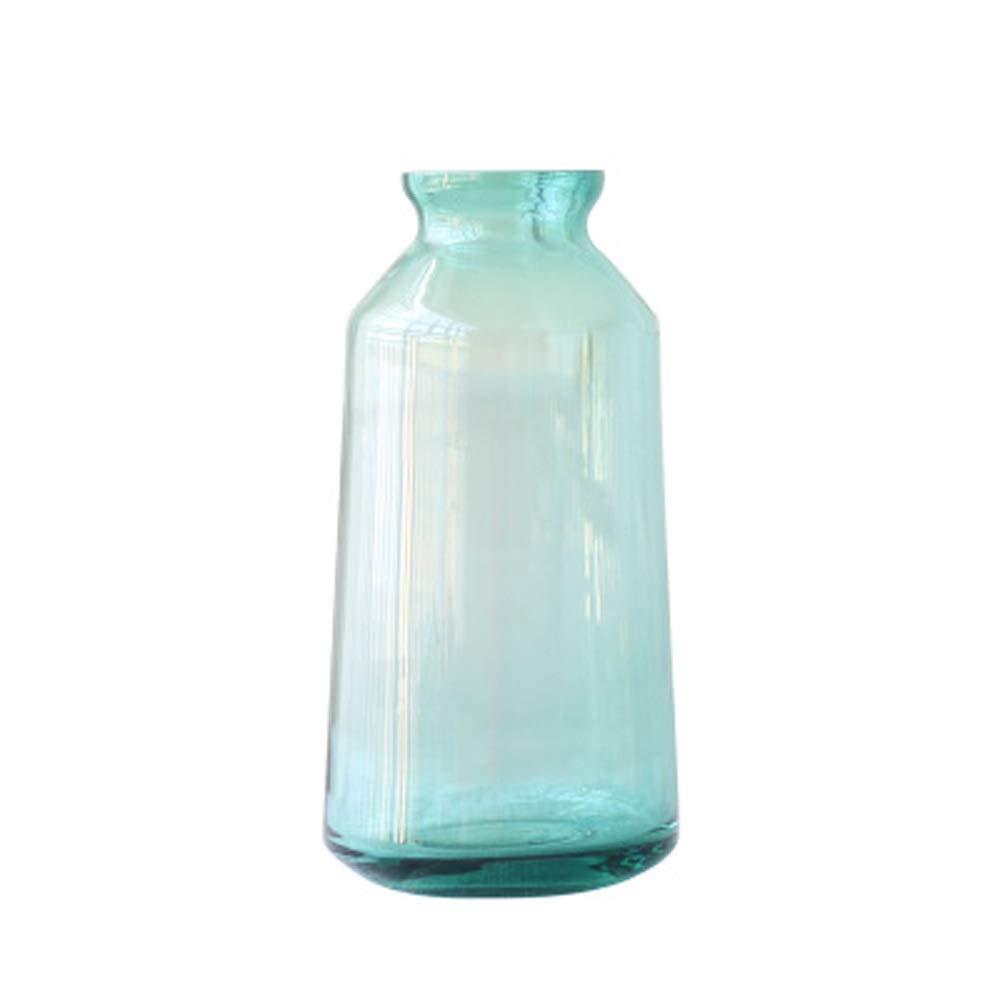 色ガラス花瓶用花緑植物結婚式の植木鉢装飾ホームオフィスデスク花瓶花バスケットフロア花瓶 (パターン : B) B07R4DSJTX  B