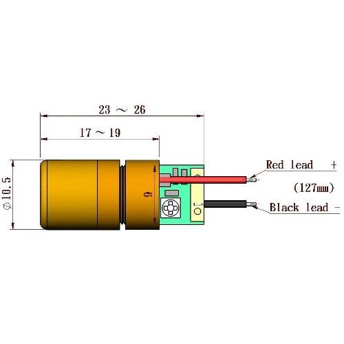 Quarton Laser Module VLM-635-02 LPT (ADJUSTABLE DOT LASER) by Infiniter (Image #1)