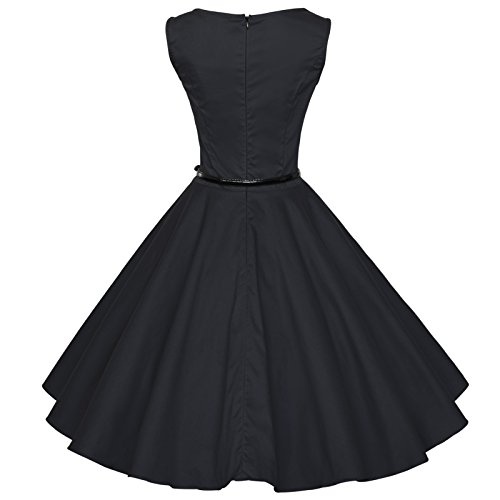 Audrey Vestido Negro Vintage Swing Hepburn 60s 50s Tang De Maggie Novia Rockabilly 8PqRAI4WW