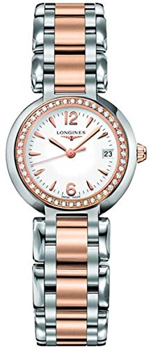 Longines PrimaLuna Diamond Rose Gold Stainless Steel Women's Watch L8.110.5.19.6