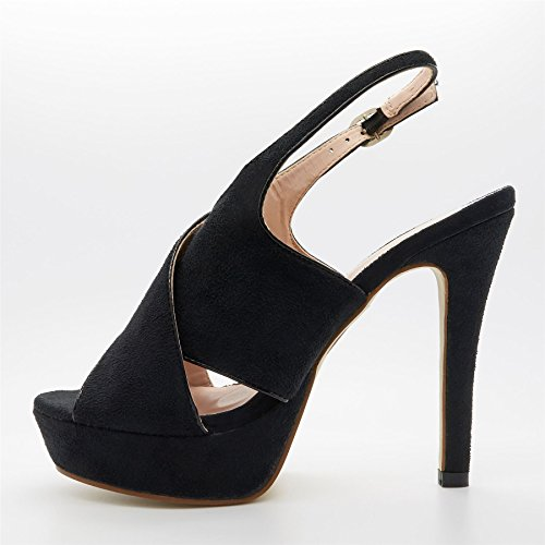 Toe London Peep Footwear Noir femme wE4EBqZn8x
