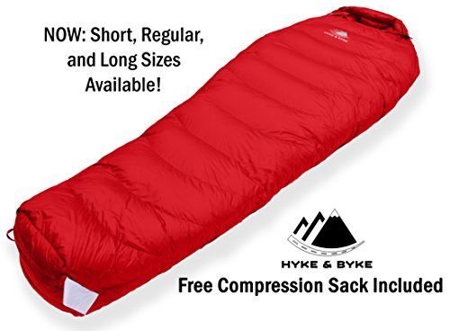 Hyke and Byke Goose Down Sleeping Bag Review - trekbible