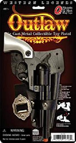 - Big Game Toys~Prop Outlaw Pistol Cowboy Toy Cap Gun diecast Pearl Colt 45 Revovler