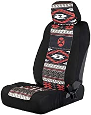 Hooey Driver and Passenger Auto Seat and Headrest Cover