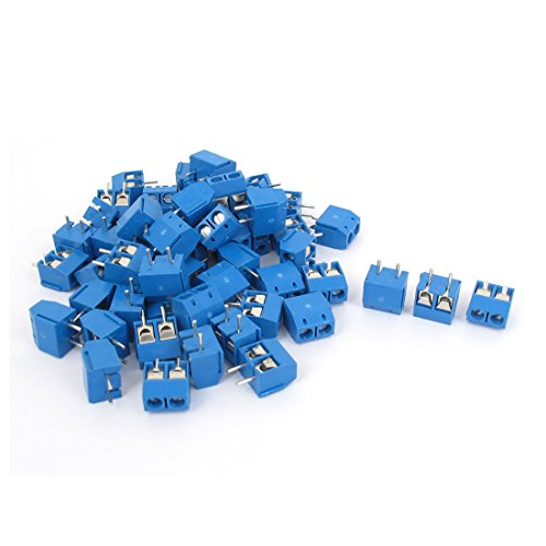 Aexit AC 300V 10A 5mm Plug-in Terminal Block Connector PCB Mount 80PCS