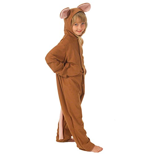 Pinky Brain Costume (Brown Mouse Costume for Kids 6-8 Years)