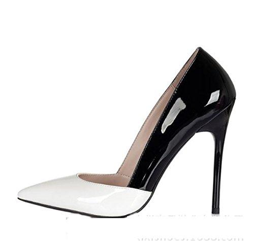 AJUNR Moda/elegante/Transpirable/Sandalias Zapatos de mujer consejos desglosado por butt-color estilo y versátil profesional los zapatos de tacón alto 12cm 37 38