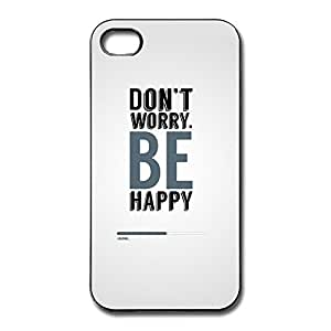 IPhone 4/4s Cases Dont Worry Be Happy Design Hard Back Cover Proctector Desgined By RRG2G