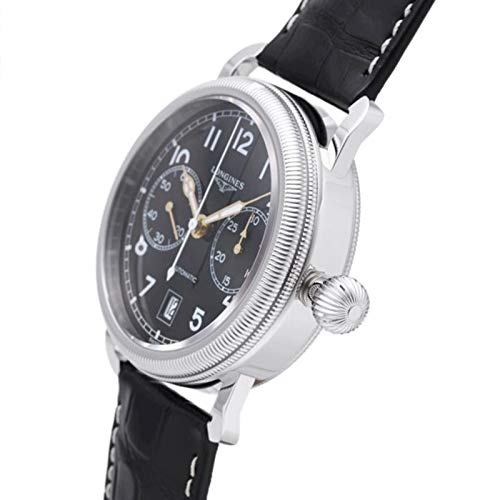 Longines orologio uomo Heritage Avigation Oversize Crown Chronograph 41mm automatico L2.783.4.53.2